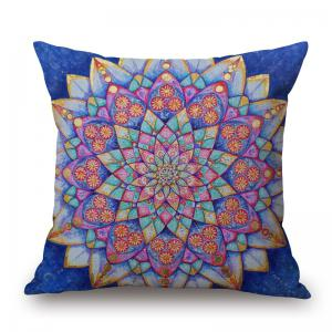 Mandala Decorative Linen Throw Pillowcase - Colormix - W17.5 Inch * L17.5 Inch