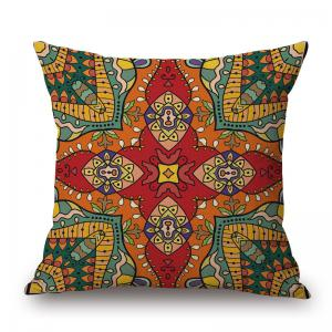 Mandala Print Decorative Linen Throw Pillowcase - Colormix - W17.5 Inch * L17.5 Inch
