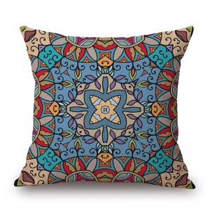 Mandala Pattern Decorative Linen Sofa Pillowcase