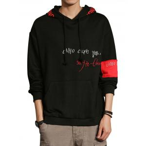 Graphic Embroidered Clown Print Hoodie