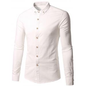 Long Sleeve Slim Fit Button Down Shirt