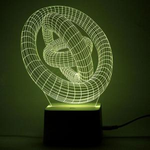 3D Planet Shape Color Change Remote Control Night Light - TRANSPARENT