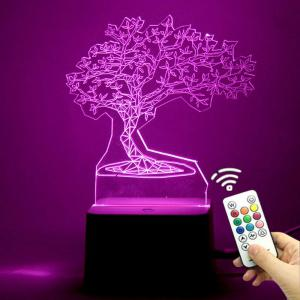 Tree Shape Color Change Remote Control 3D Decoration Light