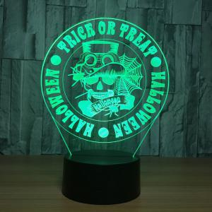 Halloween Graphic Pattern 7 Colors Change Night Light - TRANSPARENT