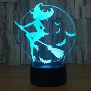 7 Couleurs Change Halloween Witch Bat Night Light -