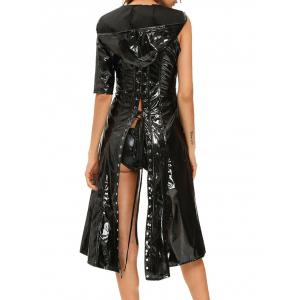 Faux Leather Lace Up Halloween Costume -