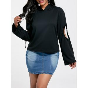 Long Sleeve Cut Out Oversized Hoodie