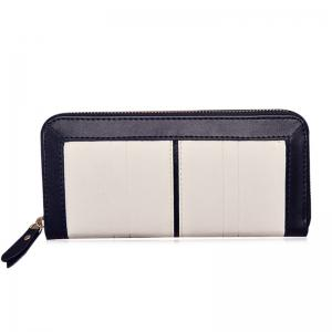 Bow Two Tone Clutch Wallet -