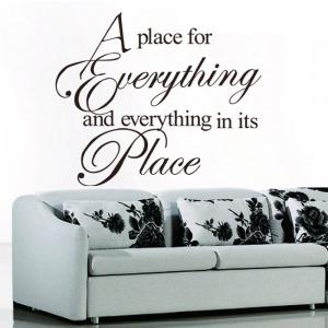 Everything Quote Wall Stickers For Living room - Black
