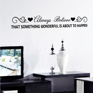 Always Believe Quote Wall Stickers For Living Room