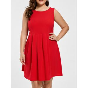 Asymmetrical Open Back Plus Size Dress