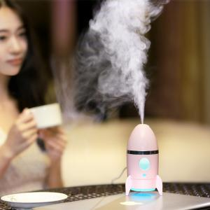 Rocket Air Humidifier With Color Changing LED Night Light - Pink - W59 Inch*l98 Inch