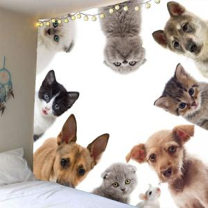 Pet Cat Dog Wall Art Waterproof Tapestry