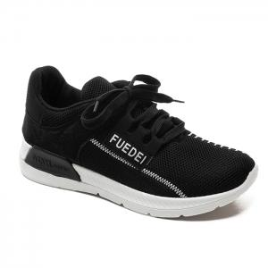 Mesh Color Block Breathable Athletic Shoes - White And Black - 39
