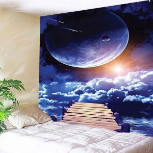 Sunrise and Planet Print Wall Tapestry