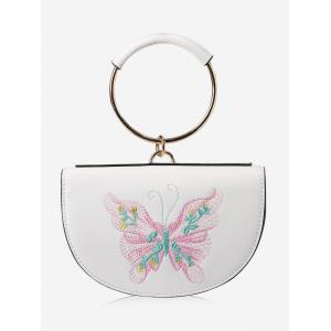 Embroidery Metal Ring Tote Bag