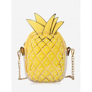 Pineapple Shape Chain Crossbody Bag