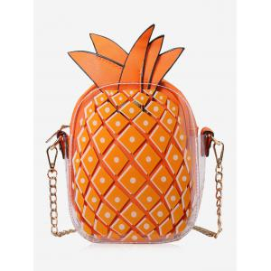 Pineapple Shape Chain Crossbody Bag - Orange