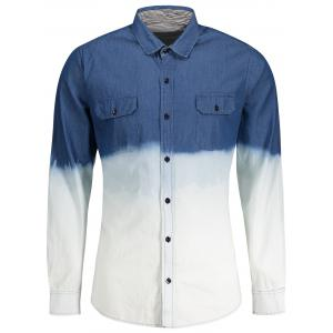 Ombre Denim Men Shirt