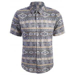 Patterned Short Sleeve Shirt