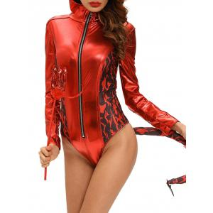 Combinaison Cosplay Devil Halloween - Rouge S