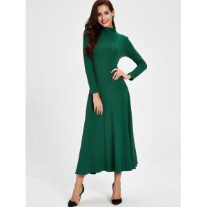 Cut Out Long Sleeve Casual Maxi Dress -