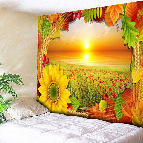 Flower Field Tapestry Chrysanthemum Wall Hanging - Yellow - W79 Inch * L59 Inch