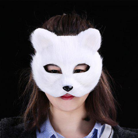 Outfit Halloween Party Accessories Fox Mask - WHITE  Mobile