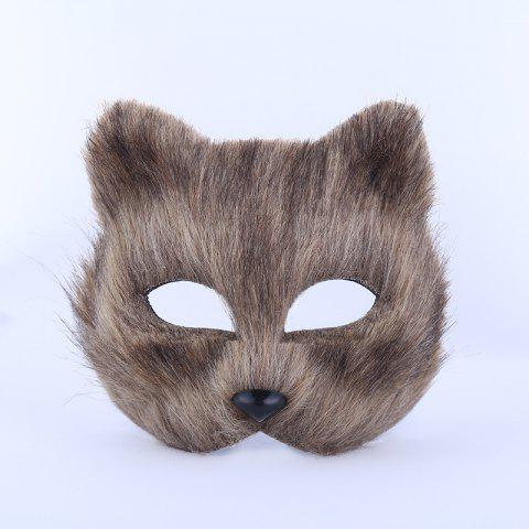 Store Halloween Party Accessories Fox Mask - BROWN  Mobile