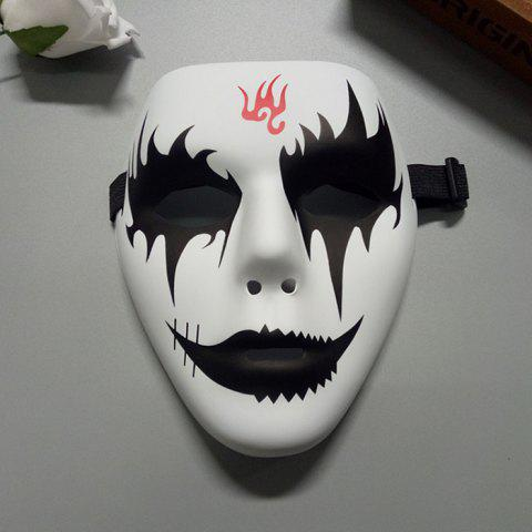 Halloween Party Accessories Hand Painted Devil Mask - Black - L