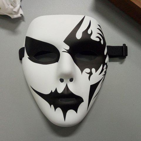 Halloween Party Accessories Hand Painted Mask - White - L