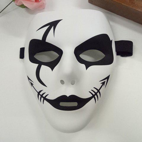 New Halloween Party Accessories Hip Hop Devil Mask - WHITE  Mobile