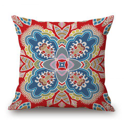 Ethnic Pattern Decorative Linen Sofa Pillowcase - Colormix - W17.5 Inch * L17.5 Inch