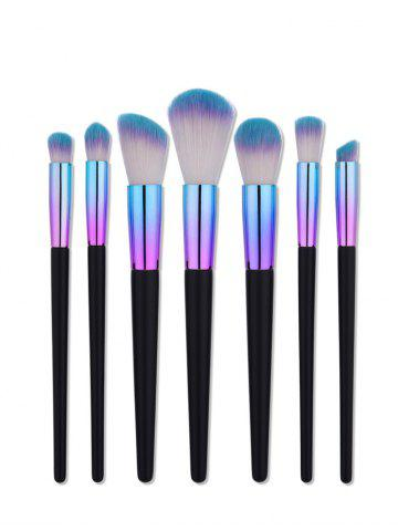 7Pcs Aluminum Tube Makeup Brushes Set - Colormix