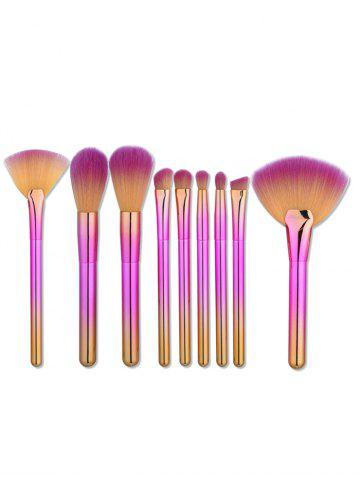 Online 9Pcs Ombre Handle Makeup Brushes Set - PINK  Mobile