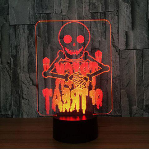 Changement de couleur Halloween Skull Night Light Transparent