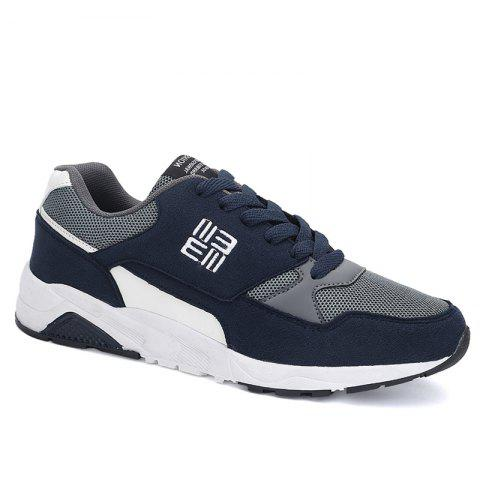New Color Block Mesh Sneakers BLUE 43