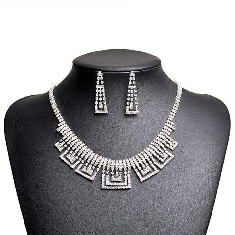 Best Rhinestone Geometric Sparkly Jewelry Set