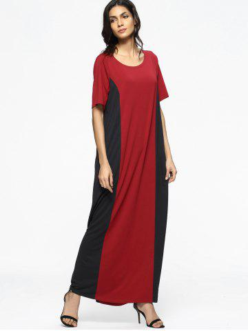Shop Two Tone Casual Tee Maxi Dress