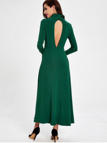 Buy Cut Out Long Sleeve Casual Maxi Dress