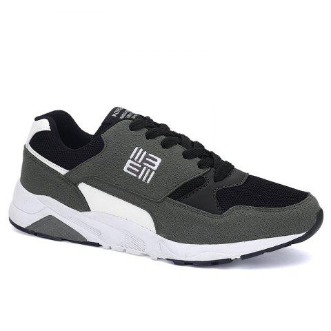 Cheap Color Block Mesh Sneakers