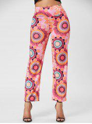 Fashionable Mid-Waisted Loose-Fitting Printed Women's Exumas Pants
