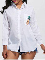 Button Up Pocket Pineapple Shirt