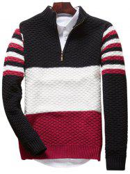 Color Block Half Zip Sweater