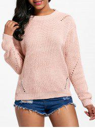Long Sleeve Crew Neck Textured Sweater