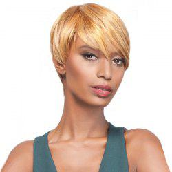 Short Oblique Bang Straight Pixie Synthetic Wig