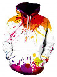 Colorful Splatter Paint Pullover Hoodie