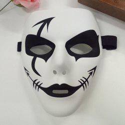 Halloween Party Accessories Hip Hop Devil Mask - WHITE