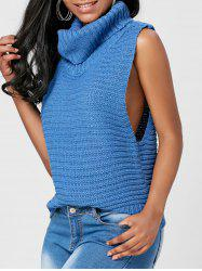 Casual Turtleneck Sleeveless Sweater