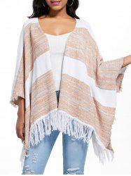 Batwing Oversized Asymmetric Fringed Cardigan